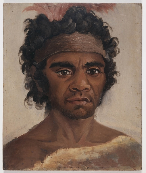Painting of Aborigine befriended by Governor Macquarie