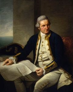 Captain James Cook, who sailed from the river Thames in 1768.