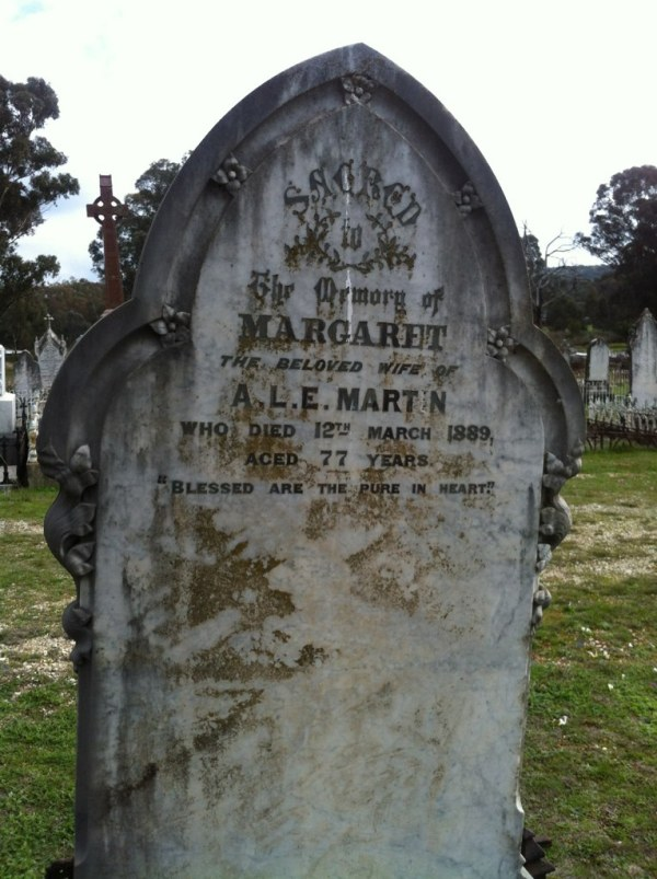 Headston for Margaret Goodwin, who became Margaret Macquarie but died Margaret Martin.