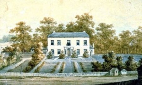 Old Government House, Parramatta. (by George Evans) Hector was banished for misconduct.