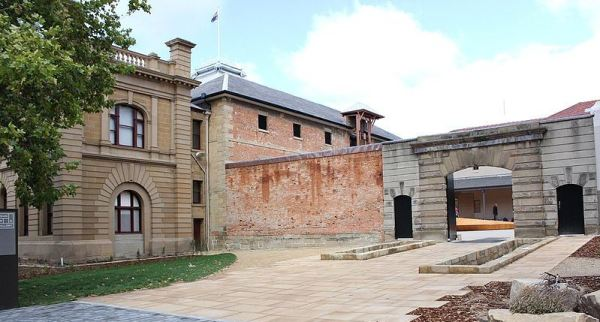 Entrance to the Tasmanian Museum and Art Gallery