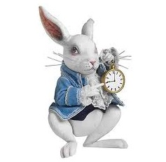 white-rabbit with his famous  pocket watch.