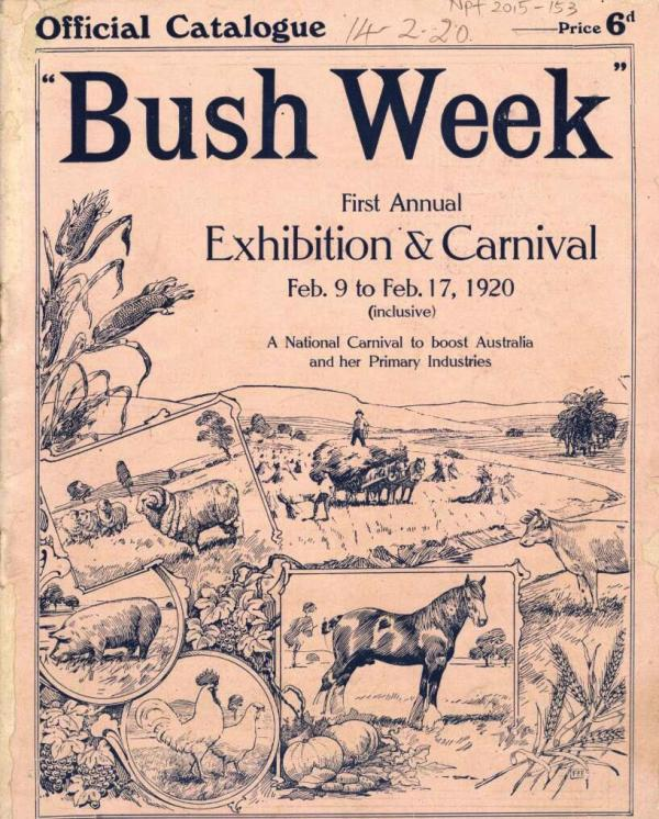 Front page of the 1920 Bush Week catalogue.