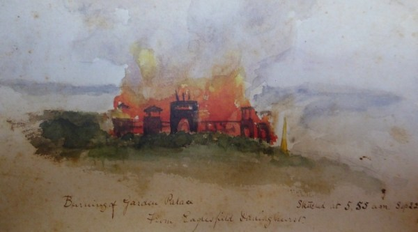 Sketch of the disaster by an unknown artist.
