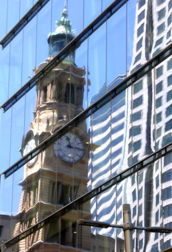 Reflected in time.