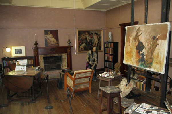 The studio, just as the artist left it.