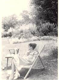 Sylvia in the garden she loved and nurtured at Frome Vauchurch.