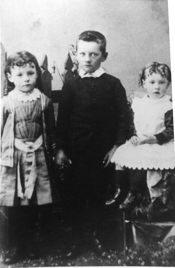 My grandma Alice as a child, left.