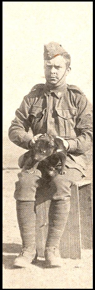 'Bluey'Thompson holding the Tasmanian Devil mascot