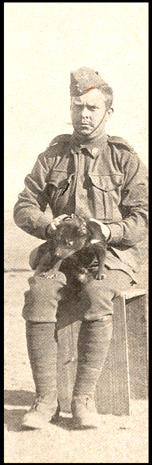 'Bluey'Thompson holding the Tasmanian Devil mascot