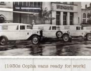 Copha delivery vans in Sydney