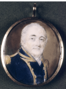 Miniature portrait of William Bligh circa 1814