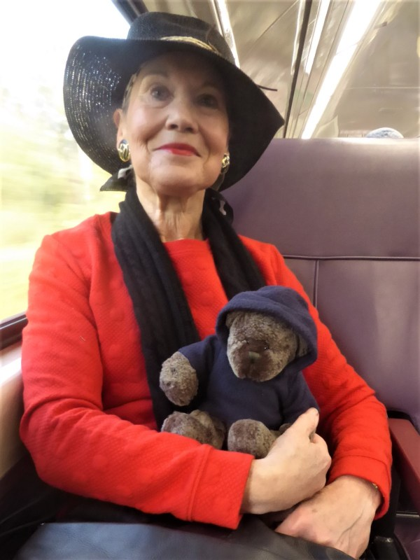 Pauline Conolly and Editor Des on the train