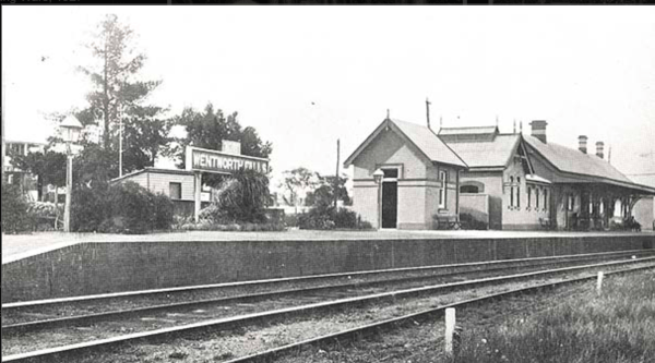 Wentworth Falls station circa 1900