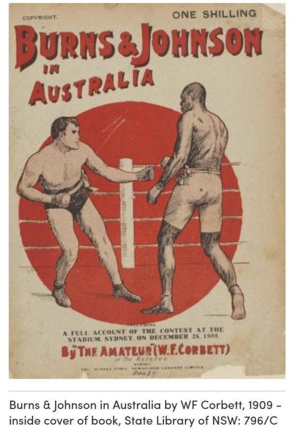Burns v Johnson fight in Sydney 1908