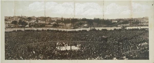 Johnson V Burns fight i Sydney 1908