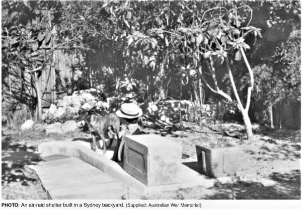 Air-raid shelter in Sydney WWII