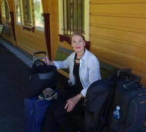 Pauline Conolly at Blackheath Station