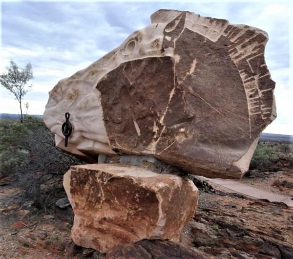 Living Desert Statue outside Broken Hill