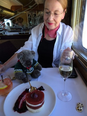 Editor Des and Pauline Conolly on the Indian Pacific