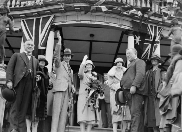 The Duke and Duchess of York at Katoombain 1927