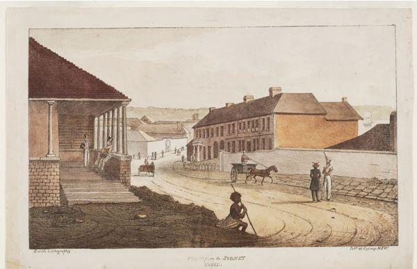 George Street Sydney 1820s