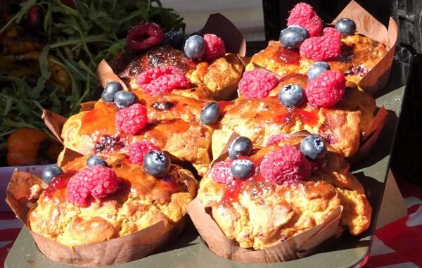 Fresh berry muffins.