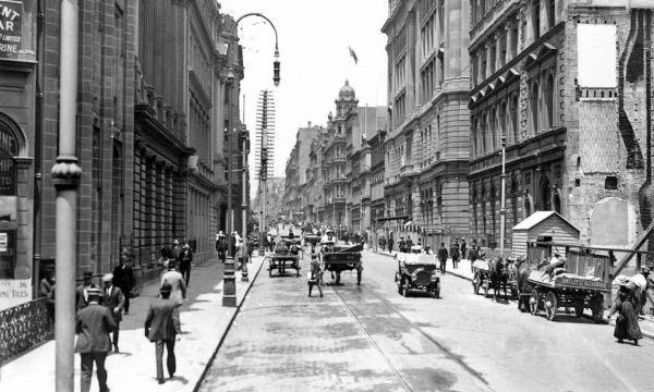 Pitt Street Sydney, 1910