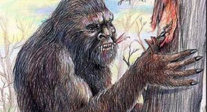 The mythicl beast Yowie