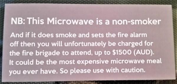 Microwave warnng