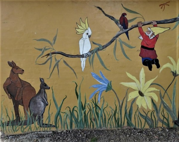 Mural in Glenbrook Park.