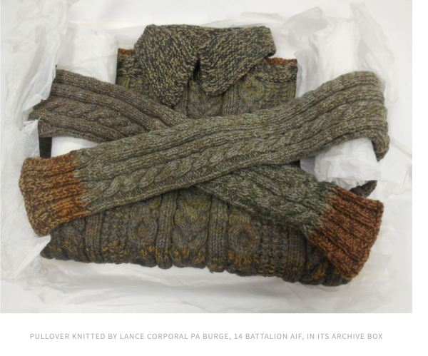 Jumper knitted by WWI POW