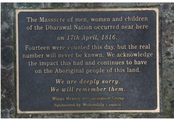 Memorial Plaque at Appin