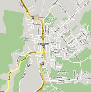 Map of Blackheath NSW