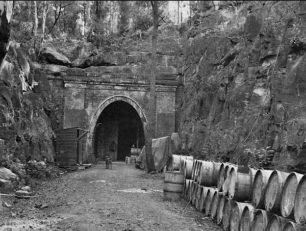 Glenbrool Railway Tunnel during WWII