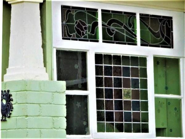 Coloured glass at Blackheath NSW