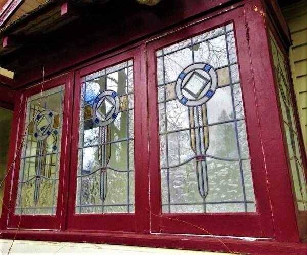 Leadlight windows at Blackheath NSW