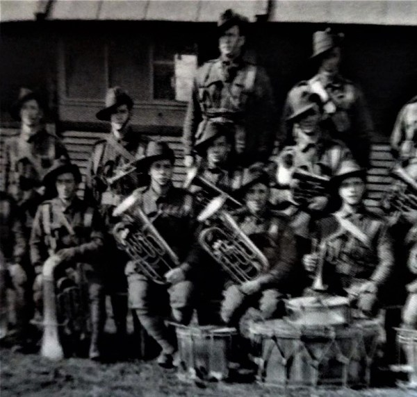 AIF brass band in WWI, including Robert Coombs