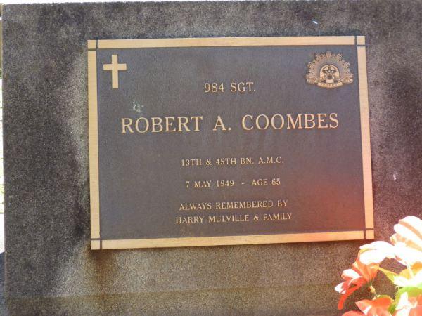 Grave of Robert Coombes