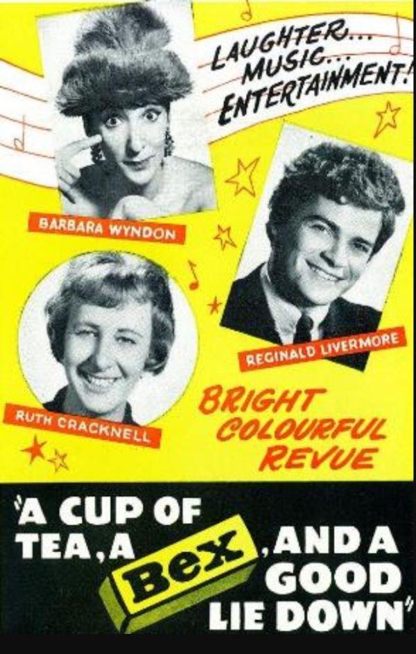 Comedy revue poster.