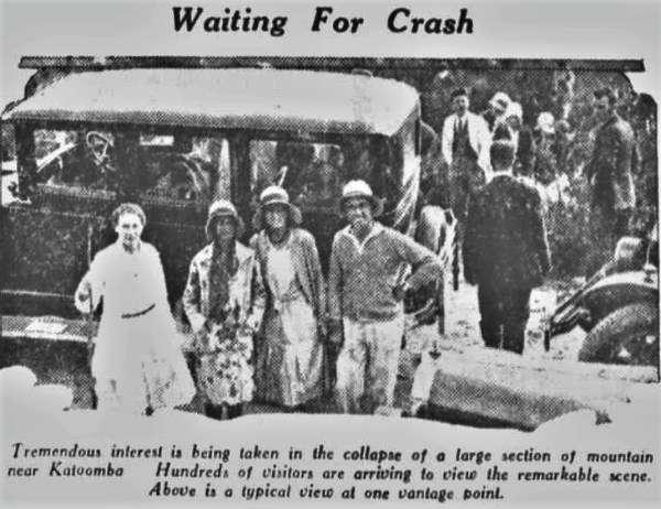 Waiting for the 1931 rock fall in Katoomba