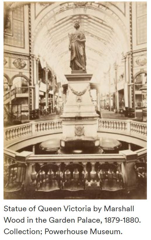 Queen Victoria's statue in Sydney's Garden Palace.