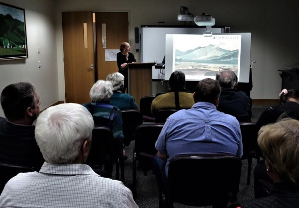 Pauline Conolly giving History Week Talk at Singleton Library