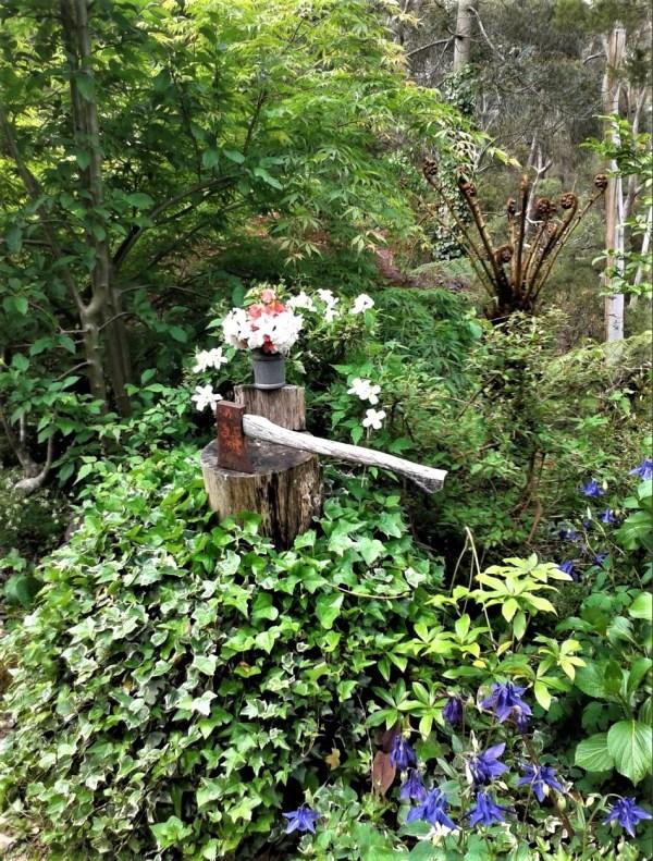 Ivy covered stump