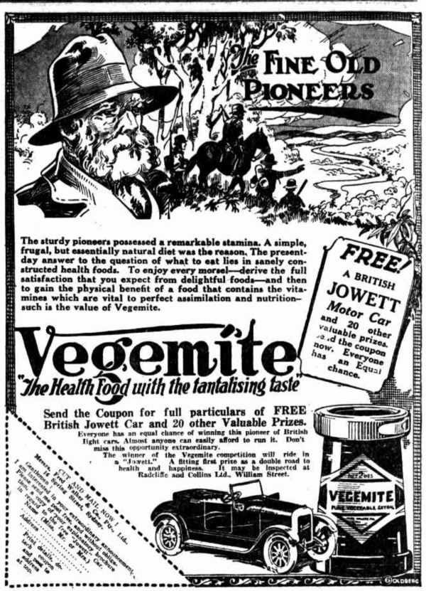 Vegemite competition.