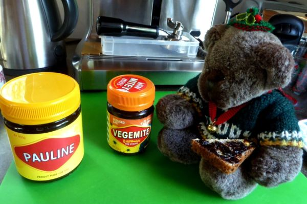 Editor Des and his Vegemite toast