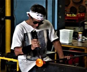 Keith Rowe, glassblower of Blackheath