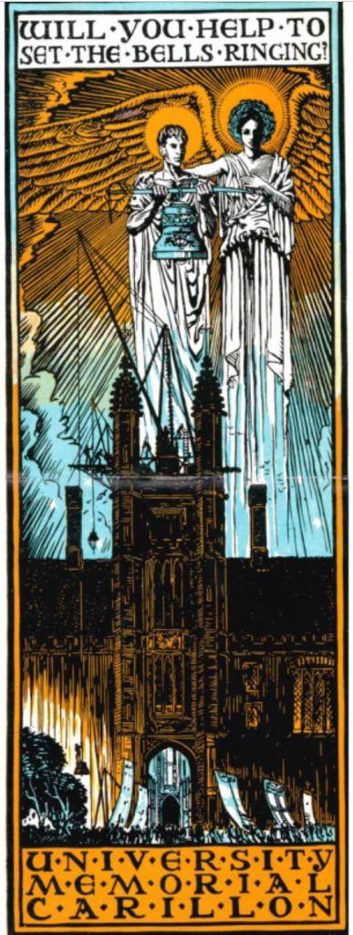 Fundraising poster for Sydney University War Memorial Carillon