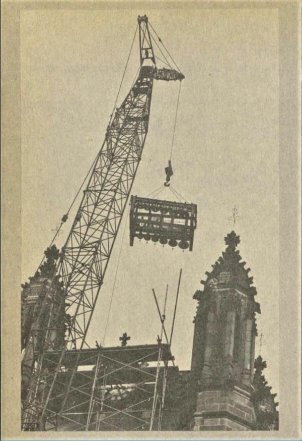 New carillon bells at Sydney University 1977