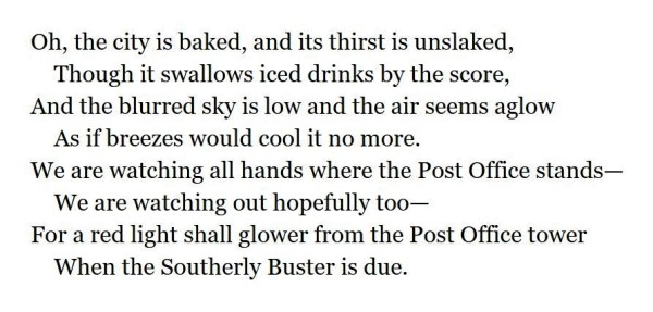 Stanza from Southerly Buster by Henry Lawson
